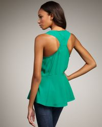 Elizabeth and James - Green Seymour Racerback Top - Lyst