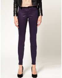 J Brand | Low Rise Coated Legging Jeans In Purple | Lyst
