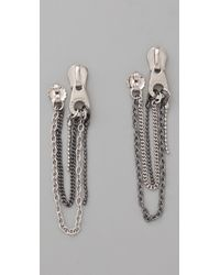 Marc By Marc Jacobs | Metallic Zip It Pull Draped Earrings | Lyst