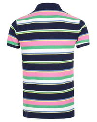Polo Ralph Lauren | Blue Navy and Multi Stripe Polo Shirt for Men | Lyst