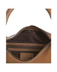 Prada | Brown Leather Zipper Shoulder Bag | Lyst