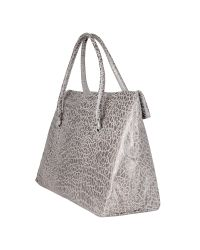 Roccobarocco - Gray Sally - Croco-stamped Satchel Bag - Lyst