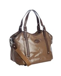 Tod's | Brown Coated Canvas Tote | Lyst