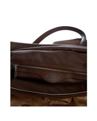 Tod's - Brown Coated Canvas Tote - Lyst