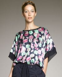Rochas   Multicolor Printed Tie-waist Top   Lyst