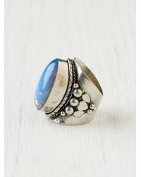 Free People - Blue Oversized Tribal Ring - Lyst