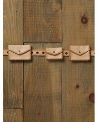 Free People | Natural Skinny Pocket Belt | Lyst
