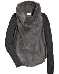 Helmut Lang | Gray Rabbit Fur Jacket | Lyst