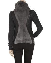 Helmut Lang - Gray Rabbit Fur Jacket - Lyst