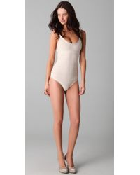 Hervé Léger | White U Neck One Piece | Lyst