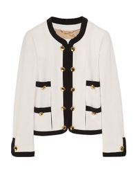 Moschino | Natural Silk-Trimmed Bouclé Wool-Blend Jacket | Lyst