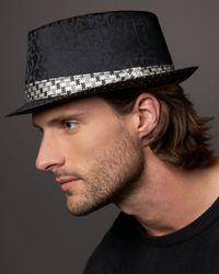 Robert Graham | Black Dandelion Silk Fedora for Men | Lyst