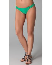 Shoshanna | Green Solid Loop Brief Bikini Bottoms | Lyst