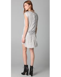 Theory | Gray Denatria Full Moon Dress | Lyst