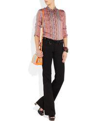 Theyskens' Theory - Pink Baimee Striped Silk-satin Shirt - Lyst