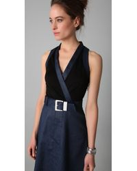 Viktor & Rolf - Blue Belted Wrap Dress - Lyst