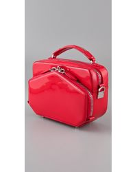Alexander Wang - Rafael Structured Bag in Patent Persimmon - Lyst