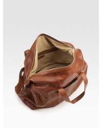 Cole Haan   Brown Small Calfskin Duffle  for Men   Lyst