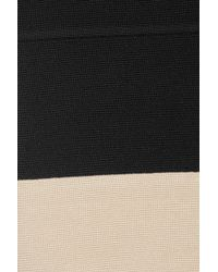 Hervé Léger - Black Block-Color Bandage Skirt - Lyst