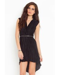 Nasty Gal | Black Pleated Tail Dress | Lyst