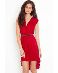 Nasty Gal - Red Pleated Tail Dress  - Lyst