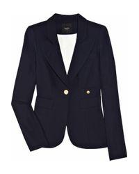 Smythe | Blue Cutaway-back Wool-crepe Blazer | Lyst