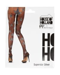 TOPSHOP | Metallic Henry Holland Star Tights | Lyst