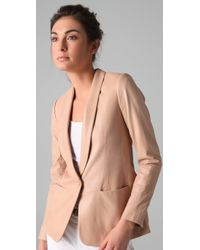 Vince | Pink Leather Blazer | Lyst