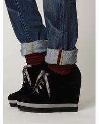 Free People - Black Wendolyn Wedge - Lyst