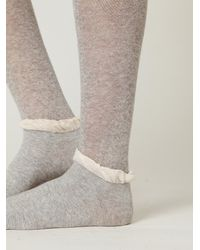 Free People | Gray Double Ruffle Slouch Sock | Lyst
