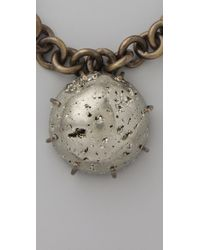 Kelly Wearstler - Metallic Chain Necklace with Pyrite Sphere - Lyst