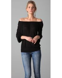 Lanston | Black Peasant Top | Lyst