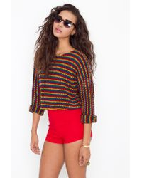 Nasty Gal - High Waist Hot Shorts - Red - Lyst