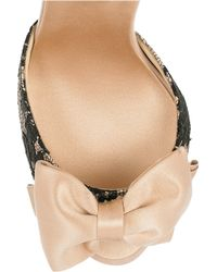 Rosamosario - Pink Lace Satin Mules - Lyst