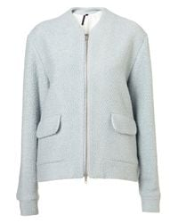 TOPSHOP - Blue Bomber Coat By Boutique - Lyst