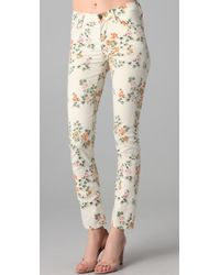 Citizens of Humanity | Natural Mandly Floral Roll Up Jeans | Lyst