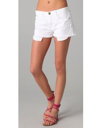 Current/Elliott | White The Boyfriend Shorts | Lyst