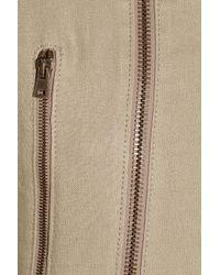 Derek Lam - Natural Leather-trimmed Linen Biker Jacket - Lyst