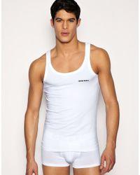 DIESEL - White Vest for Men - Lyst