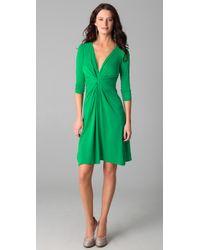 Issa | Green V Neck Dress | Lyst