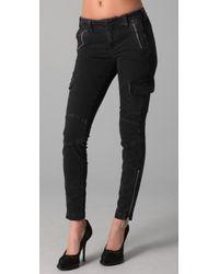 J Brand | Black Maverick Skinny Cargo Pants | Lyst