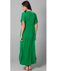 Josa Tulum | Green Rustic Long Cover Up Dress | Lyst