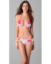 Juicy Couture | Pink Tea Rose Triangle Bikini Top | Lyst