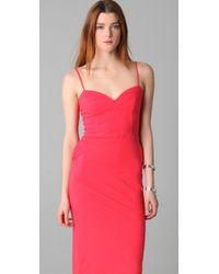 Monrow - Pink Bustier Midi Dress - Lyst
