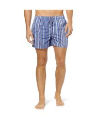 Paul Smith   Blue Classic Stripe Swim Short for Men   Lyst
