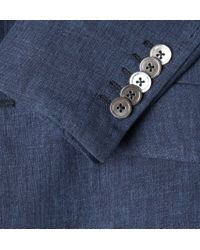 Paul Smith - Blue Byard Half-lined Linen Jacket for Men - Lyst