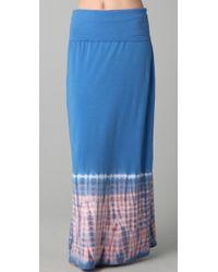 Splendid | Blue Tye Dye Maxi Skirt / Dress | Lyst