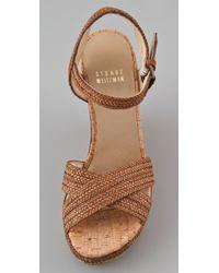 Stuart Weitzman - Brown Minx Platform Wedge Sandals - Lyst