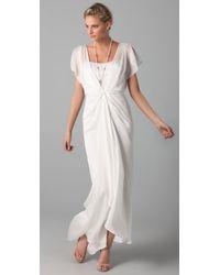 Temperley London | White Long Venus Dress | Lyst