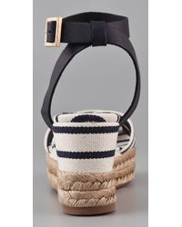 Tory Burch - Blue Karissa Wedge Sandals - Lyst